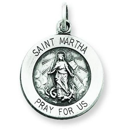 Sterling Silver Saint Martha (Martha Medal)