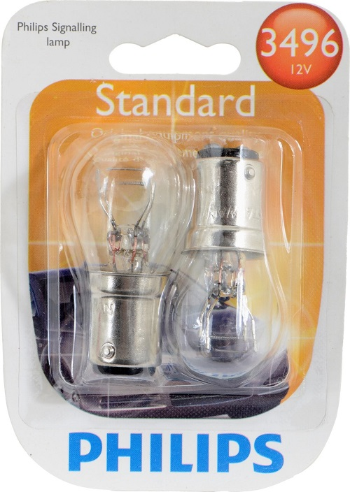 Philips 3496   12.8/14V 26.88/8.26W T6 Bulb Automotive Light Bulb