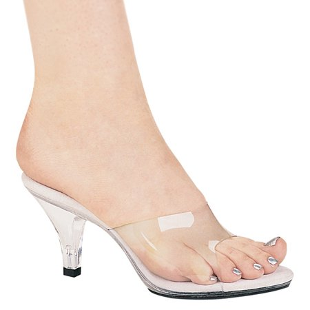 305- VANITY, 3'' Heel Clear Mule Shoes (4 Inch Heel Mule)