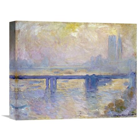 Charming Cross (Global Gallery 'Charing Cross Bridge' by Claude Monet Painting Print on Wrapped Canvas )