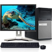 "Dell Optiplex Desktop Computer Tower with Intel Quad Core i5 Processor 8GB 500GB HD DVD Wifi Bluetooth Windows 10 Pro 19"" LCD with Keyboard and Mouse - Refurbished"
