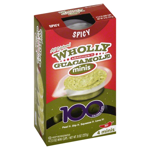 Wholly Guacamole Spicy Guacamole Minis 4-2.0 oz. Mini Cups
