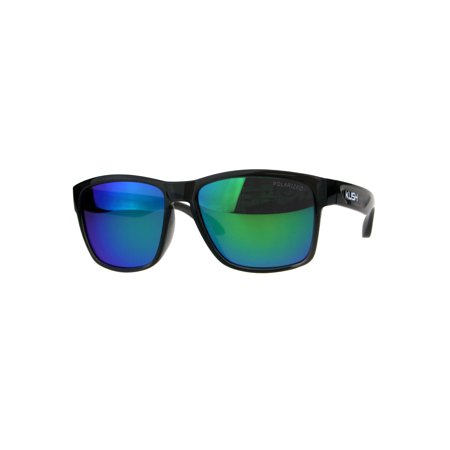 Polarized Premium Kush Color Mirror Rectangular Sport Sunglasses Teal