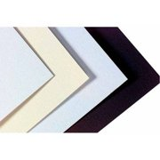 """Crescent Acid-Free Mat Board, 20"""" x 32"""", 14-Ply Thickness, White/Cream Pebbled, 10pk"""