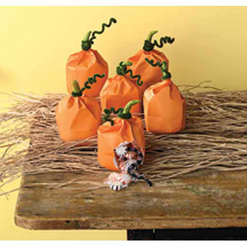 Martha Stewart Pumpkin Favor Bags, 6pk