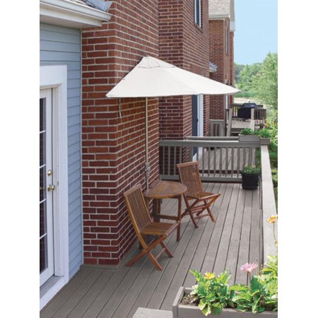 Cc Home Furnishings Oval Wood Natural Patio Set