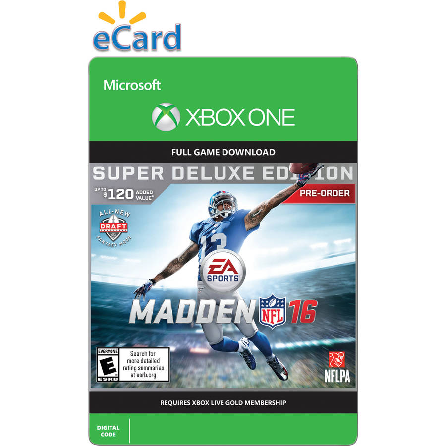 Madden NFL 16 (Xbox One) Super Deluxe Edition Pre Purchase (Email Delivery)