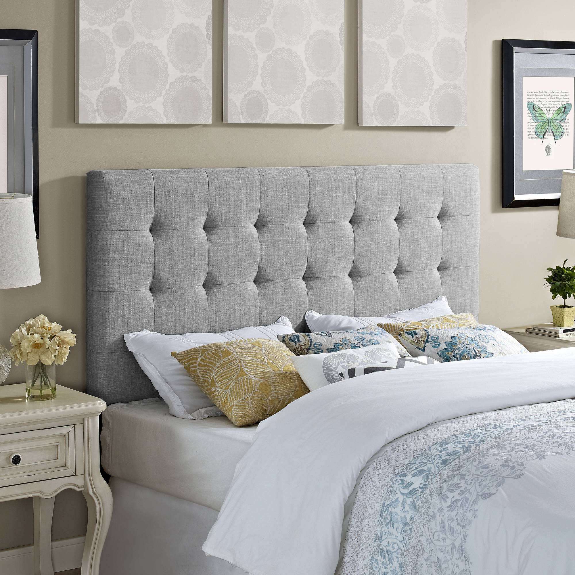 Better Homes and Gardens Full/Queen Headboard, Dove Grey