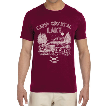 BROOKLYN VERTICAL Friday The 13th Camp Crystal Lake Graphic Fan Movie T Shirt Unisex Distressed Vintage Look