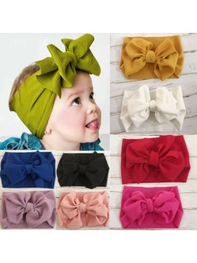 Baby & Toddler Clothing Hair Accessories Girls Baby Toddler Turban Solid Headband Hair Band Ball Accessories Headwear