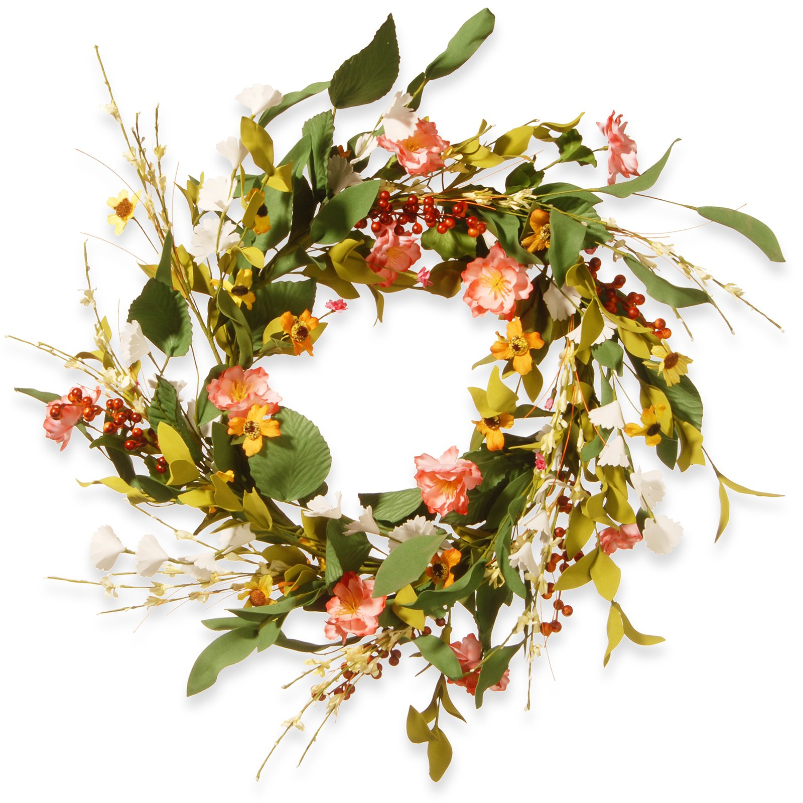 "22"" Spring Flower Wreath"