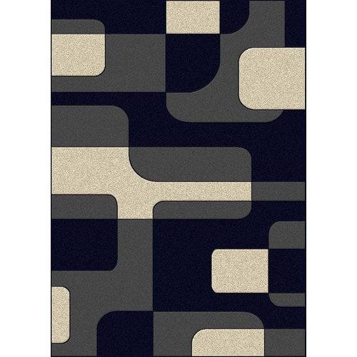 Radici USA Bella Mod Block Navy/Pearl Area Rug