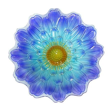 Alpine Corporation 18u0022 Flower Birdbath - Blue