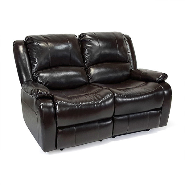 """RecPro Charles 58"""" Double RV Recliner Sofa Loveseat Espre..."""