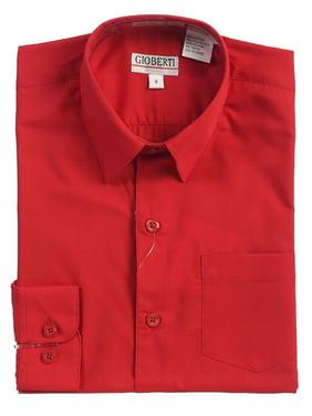 Gioberti Boys Solid Button Up Long Sleeve Dress Shirt