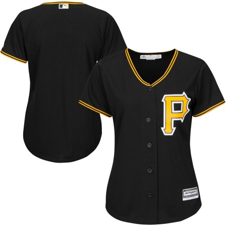 Pirate Skull Baseball Jersey - Pittsburgh Pirates Majestic Women's Cool Base Jersey - Black