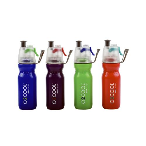 O2cool HMCSP06 Mist N Sip  ArcticSqueeze Hydration Water Bottle, 20-oz.
