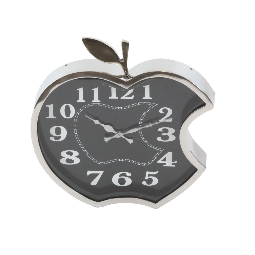 Large Majestic Apple Wall Clock Stainless Steel Walmart