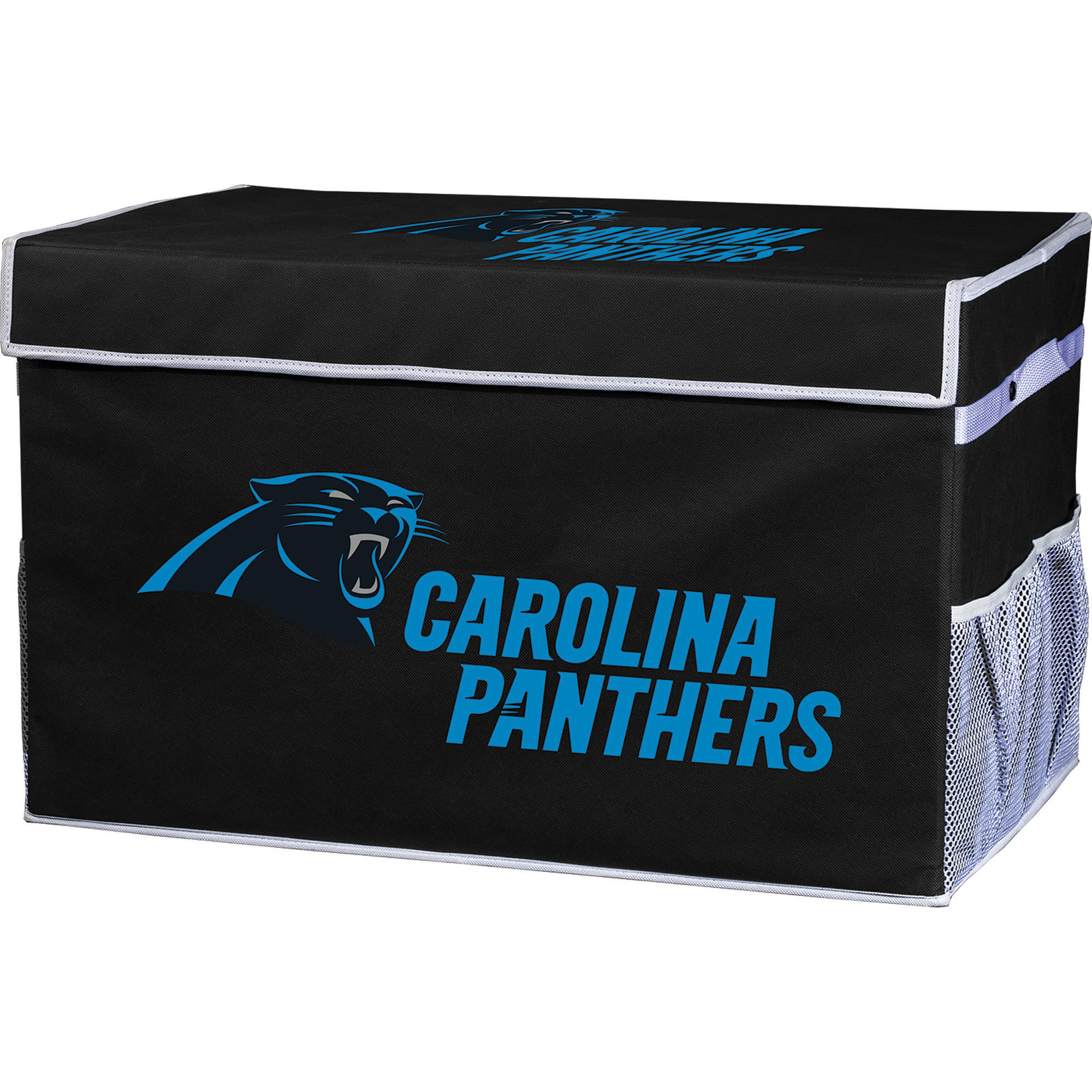 Franklin Sports NFL Carolina Panthers Collapsible Storage Footlocker Bins - Small