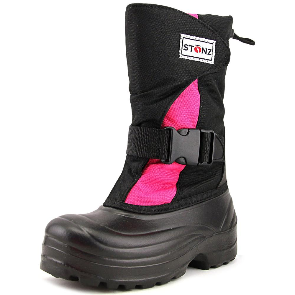 Stonz Trek winter bootz Youth  Round Toe Synthetic Black ...