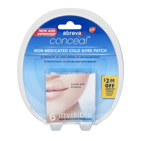 Abreva Conceal Non Medicated Cold Sore Patch Invisible 6 Ct60 Ct
