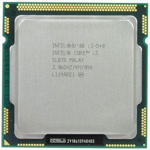 Intel Core i3-540 SLBMQ SLBTD Desktop CPU Processor LGA1156 3.06GHz 4MB 2.5 GT/s