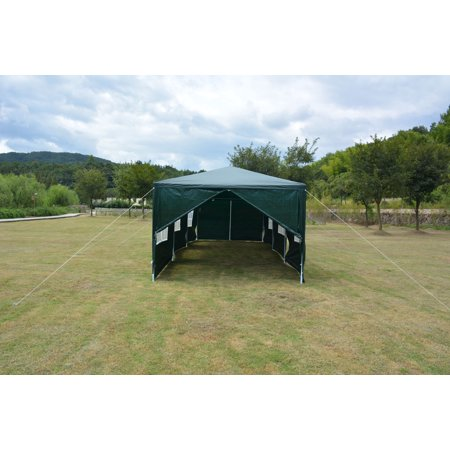 Canopy Green (MCombo 10'x30' Outdoor Canopy Tent Waterproof Gazebo Pavilion with Removable Sidewalls Green )