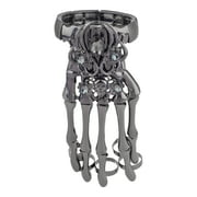 Lux Accessories Black Hem Gothic Skull Tools Full Hand Skeleton Bracelet Rings