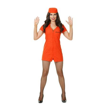 Halloween Bad Girl Dept Of Correction Adult Costume](Department Of Corrections Costume)