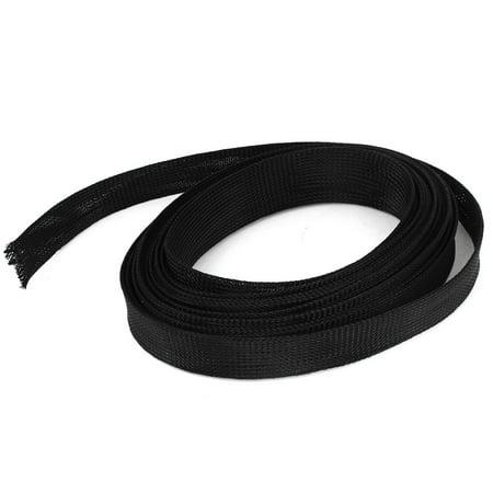 Unique Bargains 25mm x 8m Mesh Rigging Conduit Flex Expandable Braided Sleeving Cable Harness