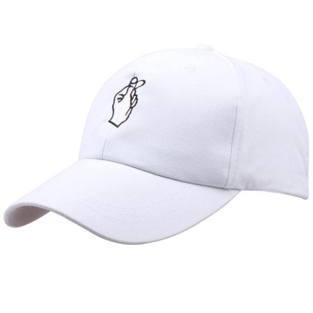 New Fashion Summer Korean Baseball Cap Cotton Adjustable Sun Hat Men And Women Hip Hop Caps Finger Gesture Snapback