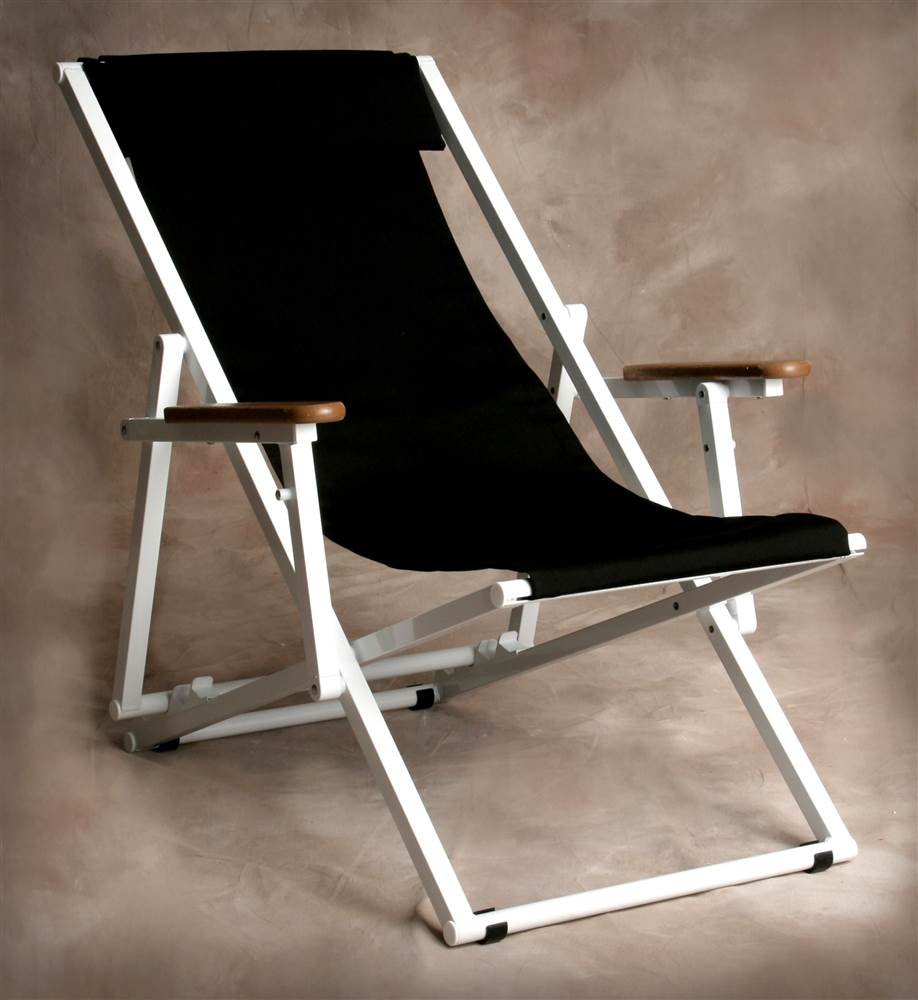 Key West Jet Black Lounge Armchair