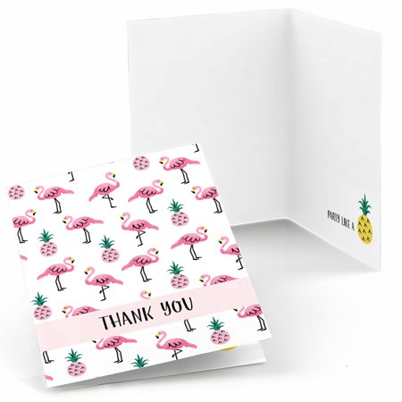 Pink Flamingo - Party Like a Pineapple - Tropical Summer Party Thank You Cards (8 count)](Halloween Party Thank You Quotes)