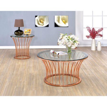 Superb Furniture Of America Roselyn Flared Bar 2 Piece Coffee Table Set Beutiful Home Inspiration Xortanetmahrainfo