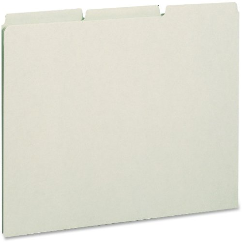 Recycled Tab File Guides, Blank, 1 3 Tab, Pressboard, Letter, 100 box by 0