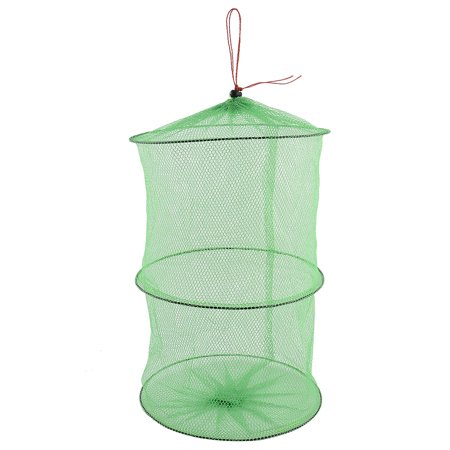 Outdoor Fishery Foldable Meshy Crabs Lobster Net Crawfish Shrimp Fishing Cage (Angler Fish Toys)