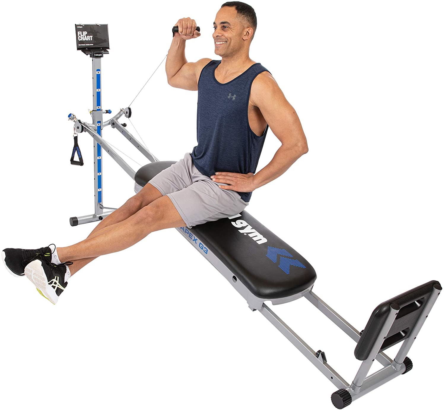 Total Gym APEX G3 Versatile Indoor Home Workout Total Body Strength  Training Fitness Equipment with 8 Levels of Resistance and Attachments -  Walmart.com - Walmart.com