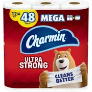 Charmin Ultra Strong Toilet Paper, 12 Mega Rolls, 3432 Sheets