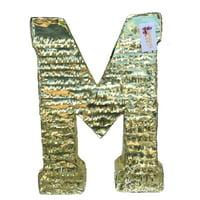 APINATA4U Large Letter M Pinata Gold Color