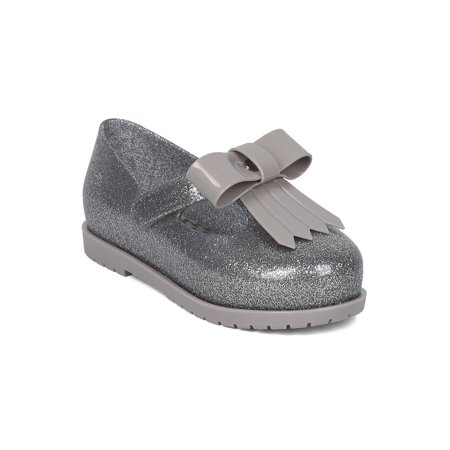 Girls Jelly Mary Jane Flat  Toddler Girl    Bow Tie Hook And Loop Walker   T Strap Fringe Bow School Shoe   Mini Classic Baby Ii By Mini Melissa Collection