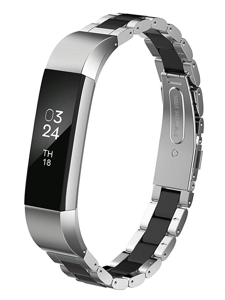 Greeninsync Fitbit Alta Stainless Steel Bands Adjustable Replacement Accessories Metal Wristband Small Large for Fitbit Alta Bracelet Men Women Girls Boys Fitbit Alta HR and Alta Bands Metal