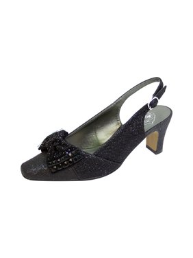 Floral Women's Megan Extra Wide Width Glitter Bow Slingback