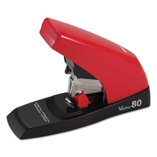 Max Vaimo 80 Compact Flat Clinch Stapler - 80 Sheets Capacity - Red (hd11ufl)