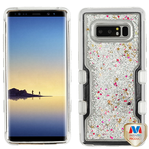For Samsung Galaxy Note 8 Liquid Flowing TUFF Quicksand Glitter Protector Cover