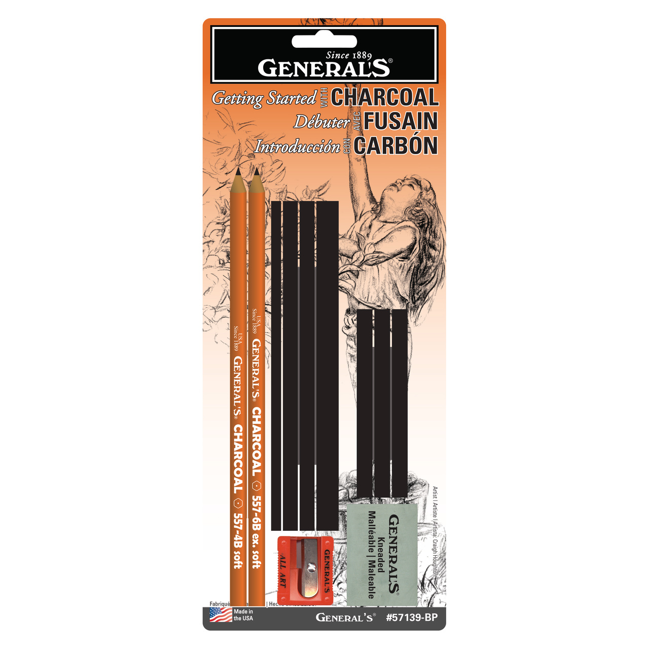 General Pencil Charcoal Drawing Assortment Set