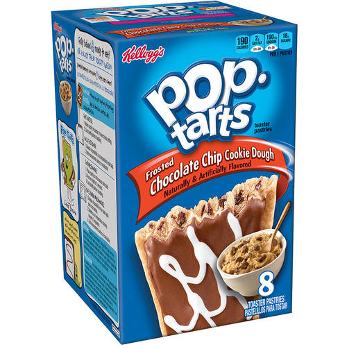 Kellogg's Pop-Tarts Chocolate Chip Cookie Dough Toaster Pastries, 14.1 oz