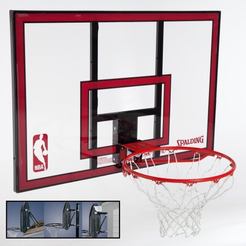 Spalding 44-Inch Polycarbonate Backboard Combo with Mounting Bracket
