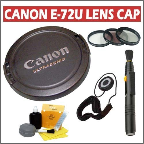 Canon E-72U Snap-On Lens Cap With Accessory Kit