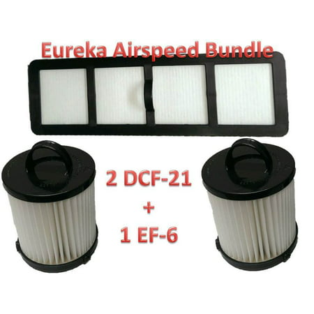 Eureka Airspeed Filter Kit Bundle 2 DCF21 EF6 HEPA Exhaust Filter EUREKA Vacuum 68931A, 69963