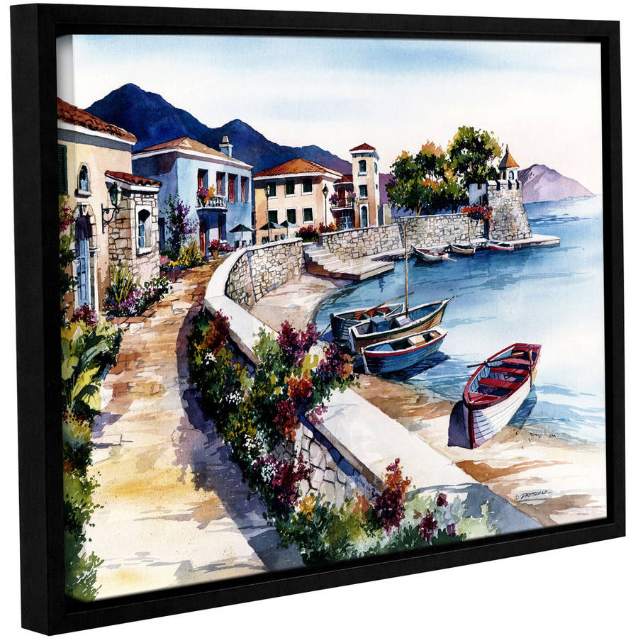 "ArtWall Bill Drysdale ""Nafpaktos"" Gallery-Wrapped Floater-Framed Canvas"
